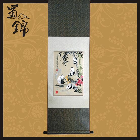 蜀锦国宝熊猫图片